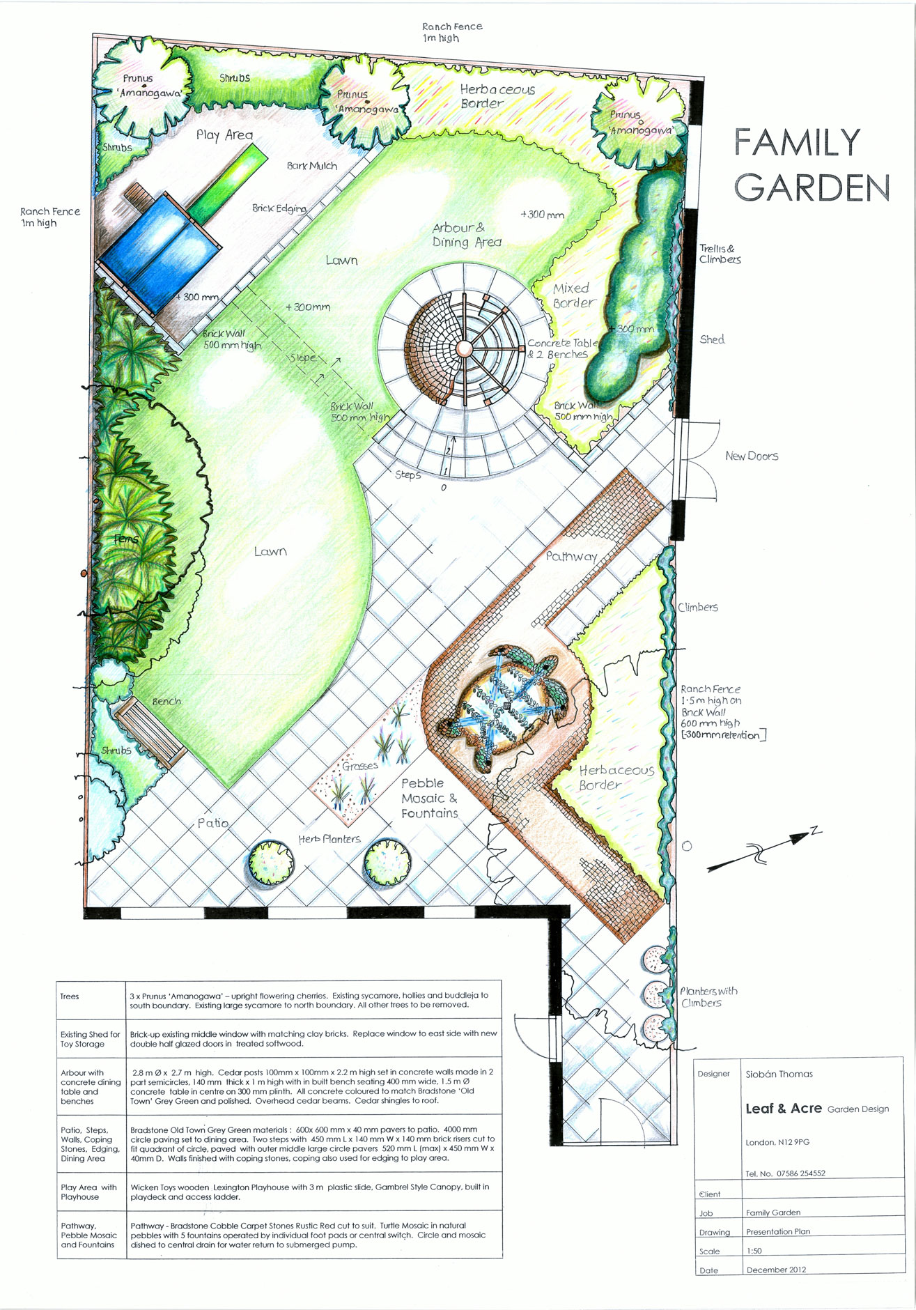 Garden design portfolio leaf and acre for Homegardendesignplan