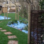 Landscaped in winter ready for spring planting