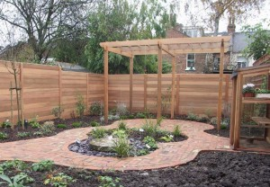 Smooth cedar fence