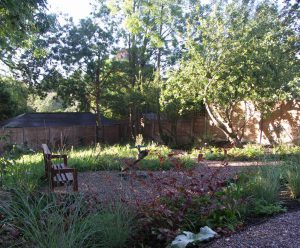 Retreat in woodland garden Whetstonr