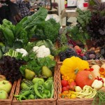 Diverse selection  of fruit and vegetables