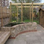 Pergola, Shed, Cedar Bench and Patio Detailing