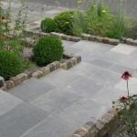Steps in dark dolomitc limestone