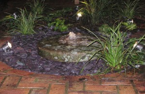 Millstone Water Feature - Lighting