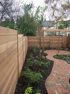 cedar fence horizontal boards