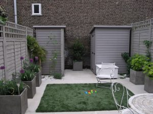 Low maintenance patio garden