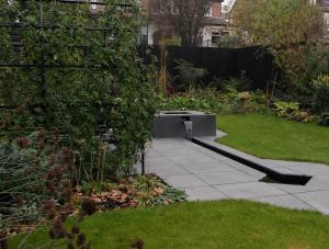 Finchley Garden - wildlife water garden with rill, pools, meadow and fernery